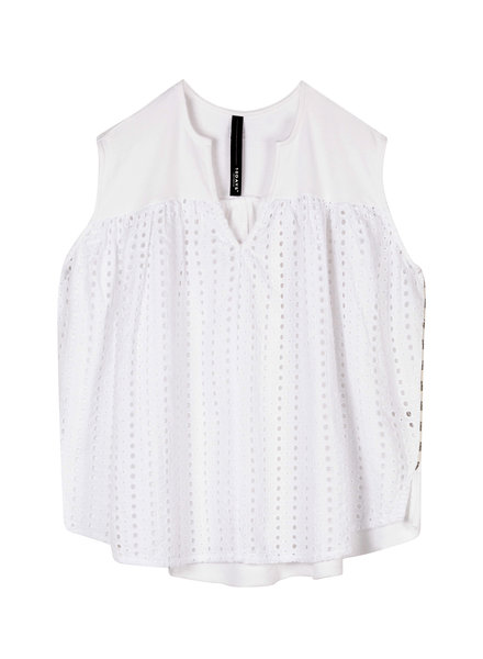10Days Top Broderie White