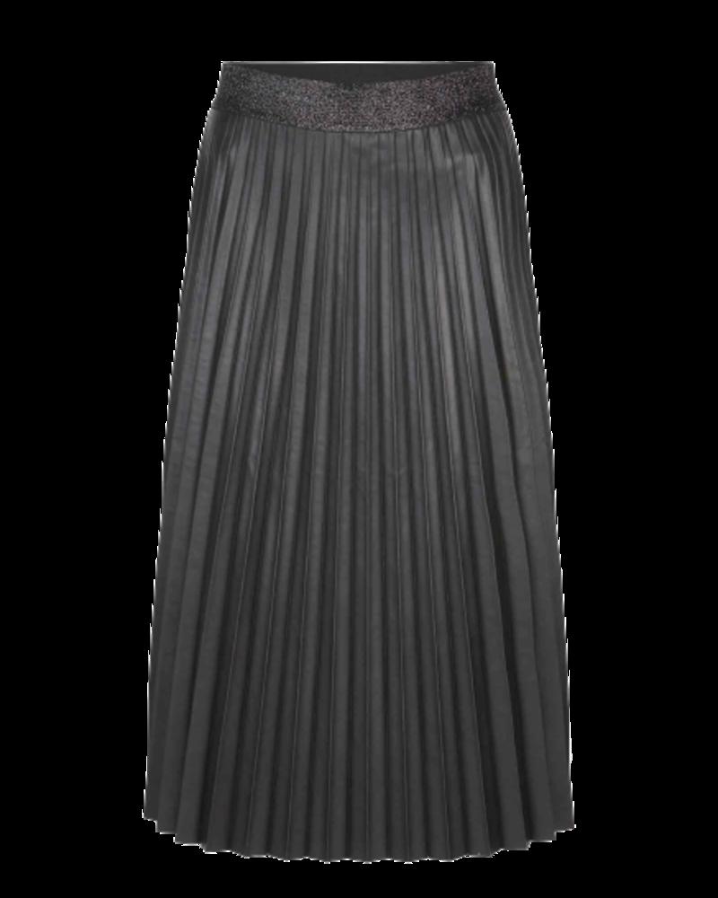 Summum Woman Plisse Skirt Fake Leather Black