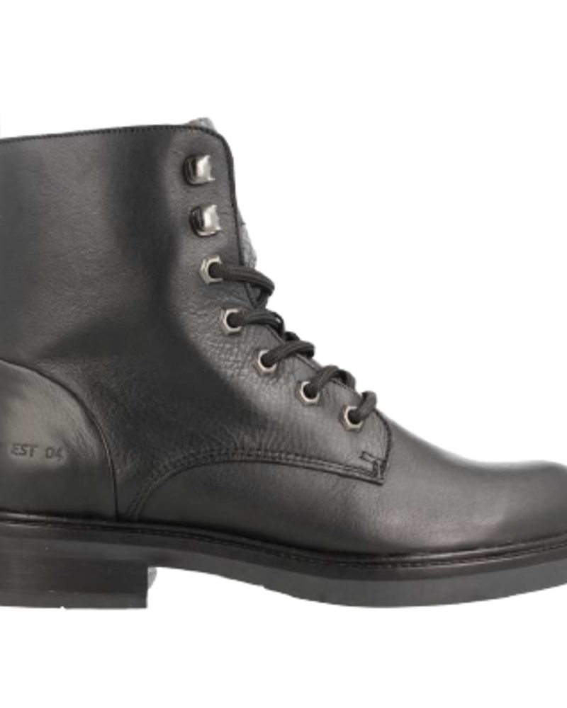 Red Rag Mid Boot Lace Black Combi