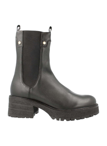 Red Rag High Chelsea Boots Black Nappa