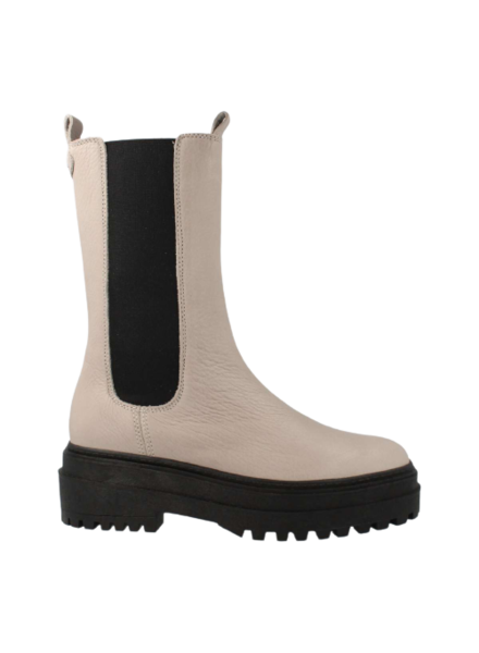 Red Rag High Chelsea Boots Taupe Nappa