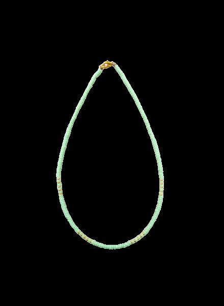 Handmade  Necklace Green/Gold