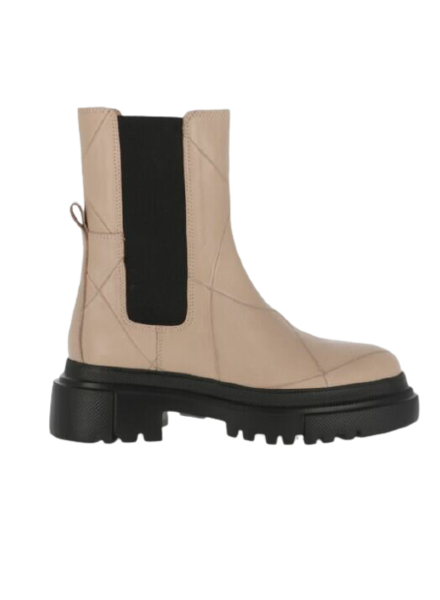 SHABBIES Chelsea Ankle Boots Light Grey
