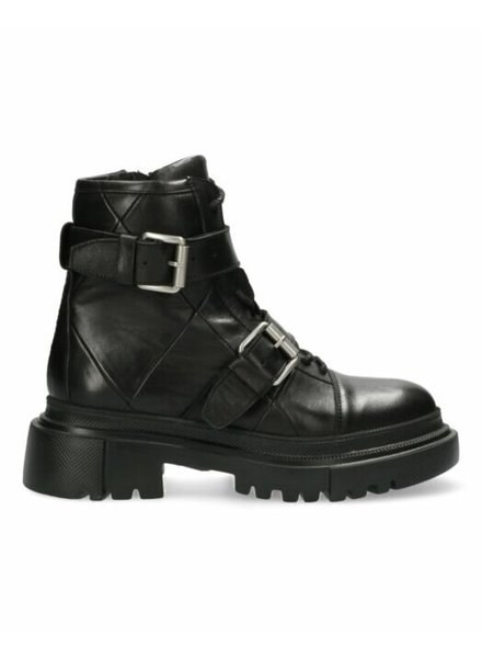 SHABBIES Ankle Boot Laceup Black