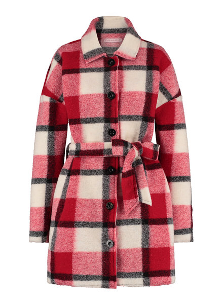 Studio Anneloes Philly Wool Coat Deep Red/Offwhite