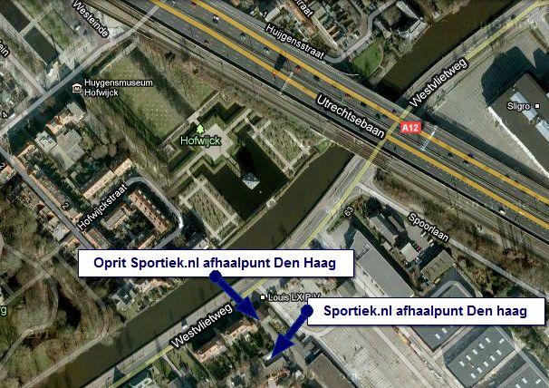 Ingang oprit afhaalpunt Den Haag