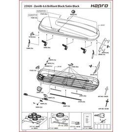 Hapro Roofbox parts Hapro Zenith 6.6, 8.6