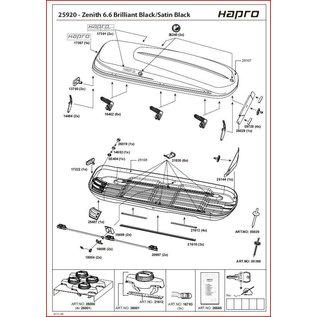 Hapro Dakkoffer onderdelen Zenith handelingkosten