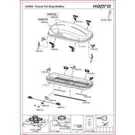 Hapro Hapro roof box parts Traxer 4.6, 5.6, 6.6, 8.6