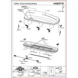 Hapro Dakkoffer onderdelen Traxer handlingkosten
