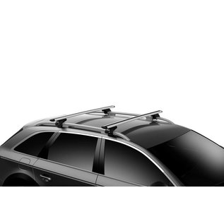 Thule Dachträger-Set Evo Wing für offene Dachreling (2 Teile) 7104 (757)