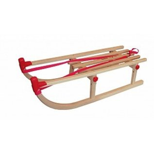 Wooden sledge foldable