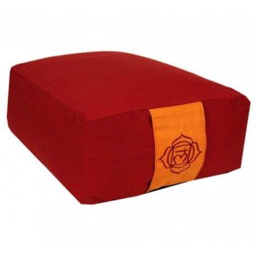 Bolster in verschillende Chakra kleuren