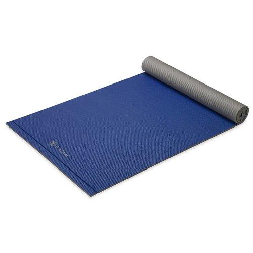 GAIAM Yogamat 2 kleuren licht Navy/Grijs