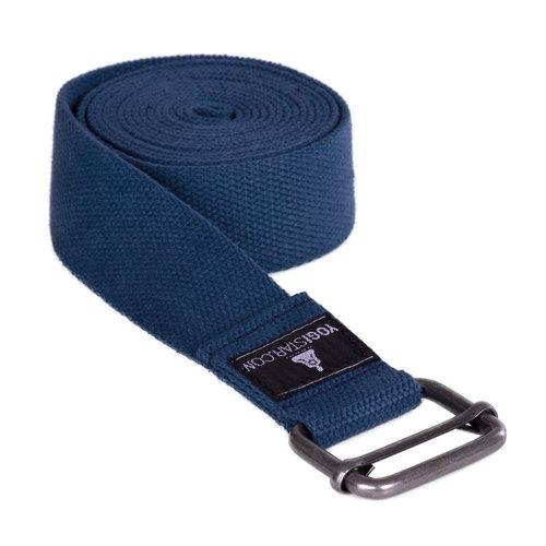 YOGISTAR Yoga Riem D-Ring blauw metaal