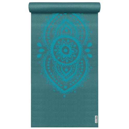 YOGISTAR Yoga Mat design Ajna Chakra Petrol