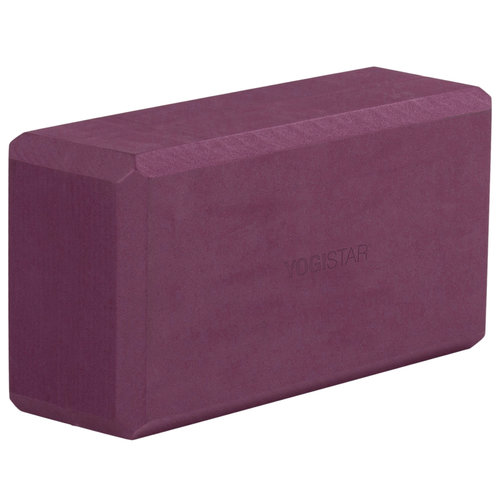 YOGISTAR Yoga Blok Basic Bordeaux
