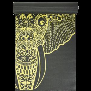 Yoga Studio Yoga Studio Elephant Designed Grey Yoga Mat (6mm)