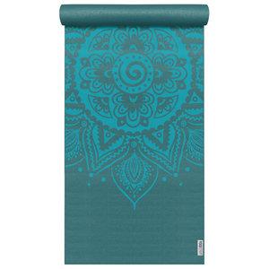 YOGISTAR Yoga Mat design Spiral Mandala Petrol
