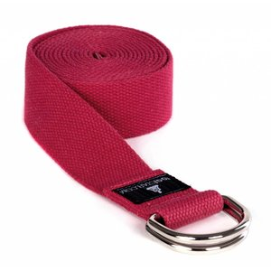 YOGISTAR Yoga Riem D-Ring Power Rood Metaal