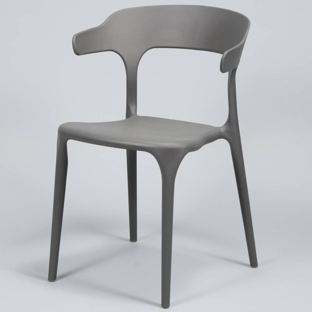 Duverger Curved - Stoelen - set van 4 - kunststof - grijs