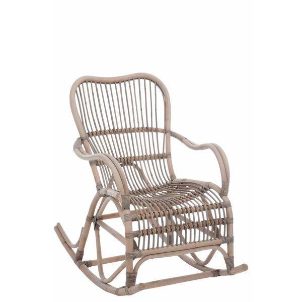 Duverger® Nostalgic - Schommelstoel - rotan - grijs - 66x110x93cm