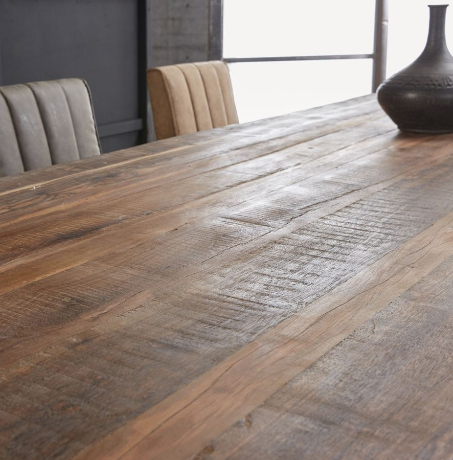 Duverger Eettafel - massief gerecycled hout - Nature - 260x90x77cm