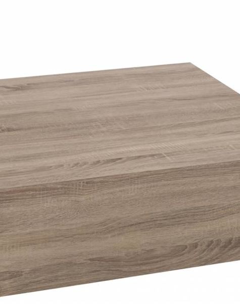 Duverger Tight - Salontafel 80 - vierkant - naturel - hout - 80x80x30cm