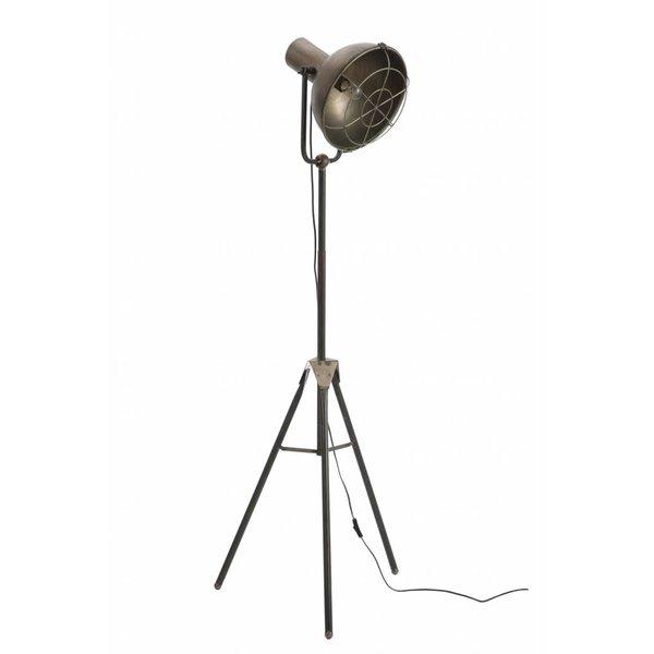 Duverger® Industry - Vloerlamp - grijs metaal - ronde kap