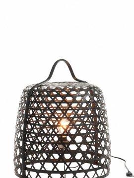 Duverger Bamboo light - Vloerlamp - cilinder - bamboe - zwart