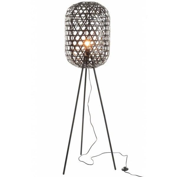 Duverger® Bamboo light - Vloerlamp - cilinder - bamboe - zwart - driepikkel - metaal