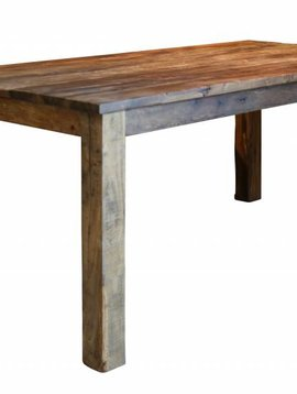 Duverger Eettafel - massief gerecycled hout - Nature - 180x90x77cm