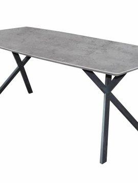 Duverger Cosy - Eettafel 160 - ovaal - betonlook - grijs - 160x90x76cm