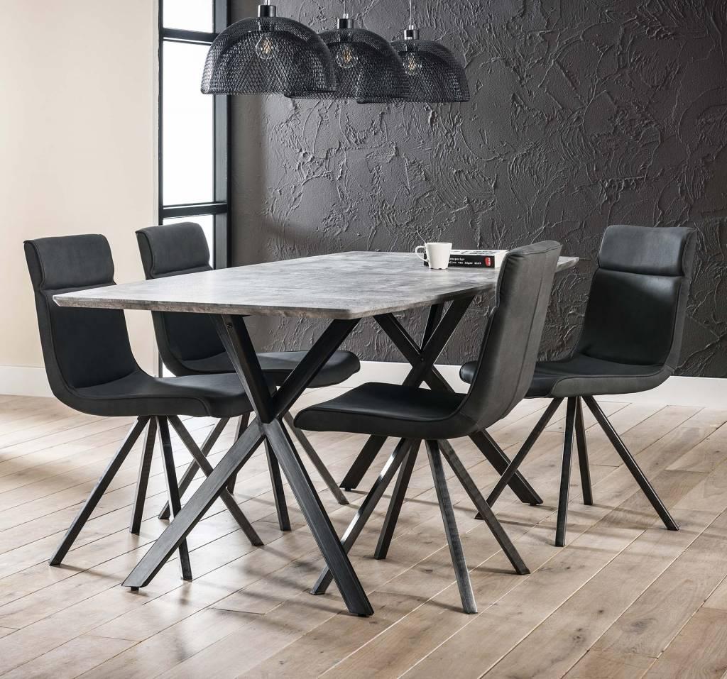 Duverger Cosy - Eettafel 190 - ovaal - betonlook - grijs - 190x90x76cm