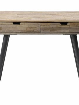 Teakhouten Sidetable Halfrond.Sidetables Consoles Duverger Home