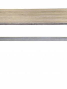 Duverger Crossbar - Eettafel - 200x95cm - MDF- 3D eiken greywash - stalen onderstel met dwarsbalk