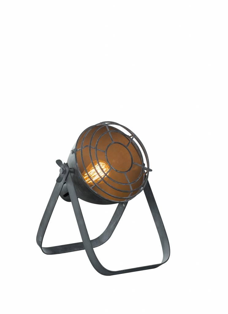 Duverger Industry - Vloerlamp - dia 22cm - raster - Concrete - Grijs