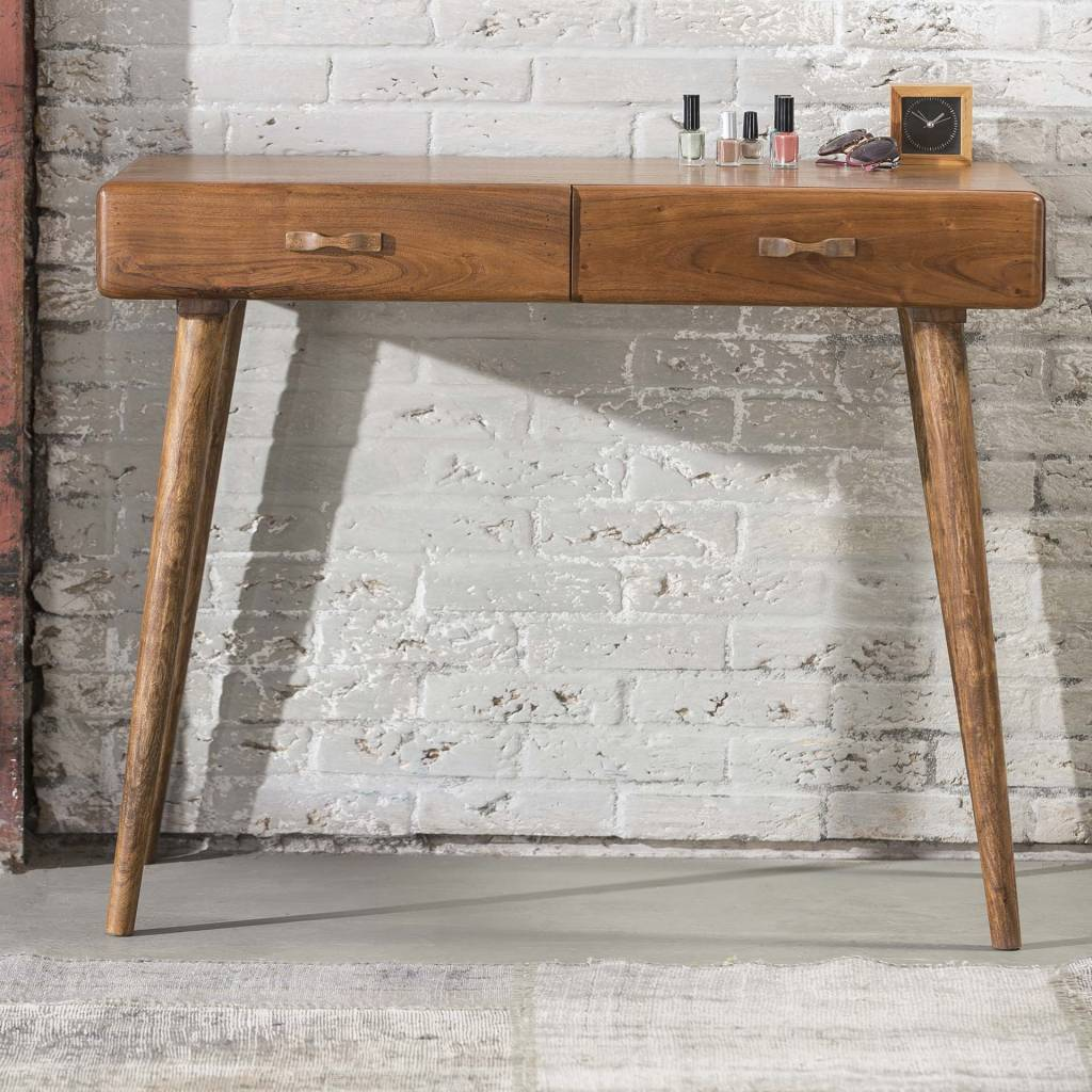 Duverger Spring - Sidetable - console - acacia hout - 2 laden - 100x50x76cm