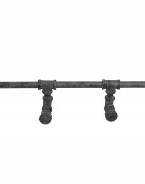 Duverger Plumber - kapstok - industrial tubes - 6 haken - oud zilver