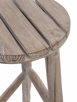 Duverger Nature - Kruk - rond - hout - white wash
