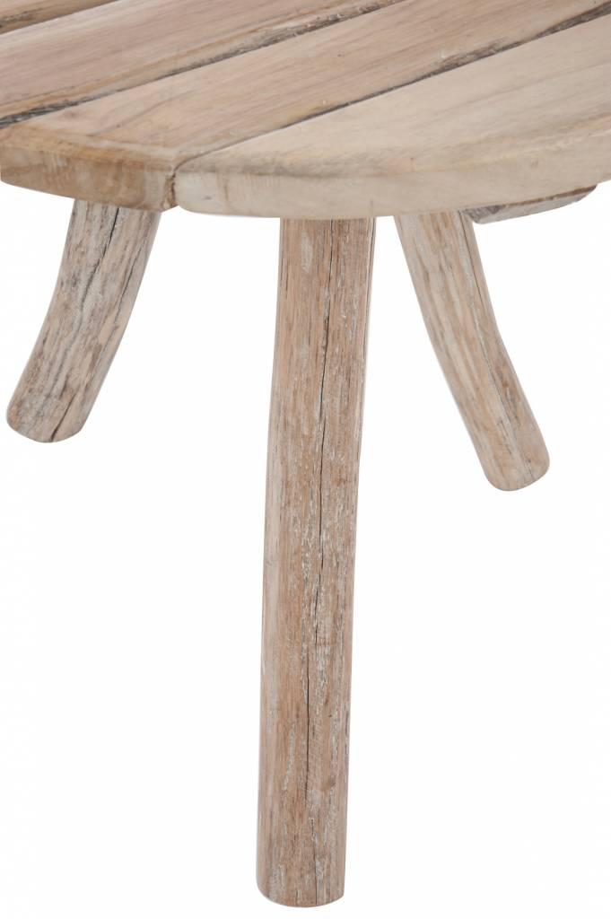 Duverger Nature - bistrotafel - rond - hout - naturel - 3 poten