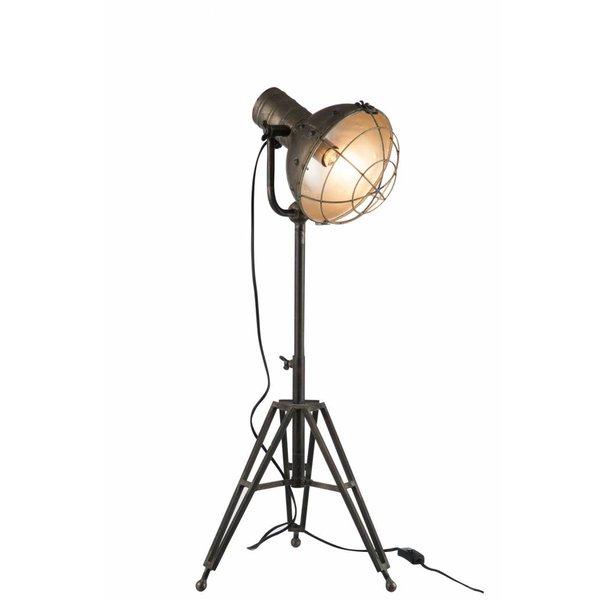 Duverger® Industry - Vloerlamp - grijs - metaal - driepikkel - verstelbaar
