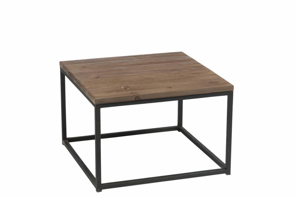 Duverger Industry - Bijzettafel - vierkant - hout - metalen frame