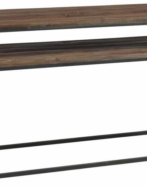 Duverger Industry - Sidetable - rechthoekig - hout - metalen frame - 2 bladen