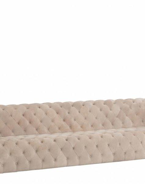 Duverger Brexsit velvet - Sofa - 3zit - beige - fluweel - knopen - L 239cm