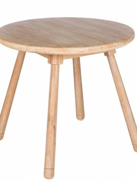 Duverger Rabbit - Kindertafel - rond - hout - naturel