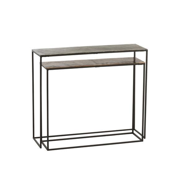 Duverger® Industry Alu - Sidetables - set van 2 - rechthoekig - kleur mix - inschuifbaar