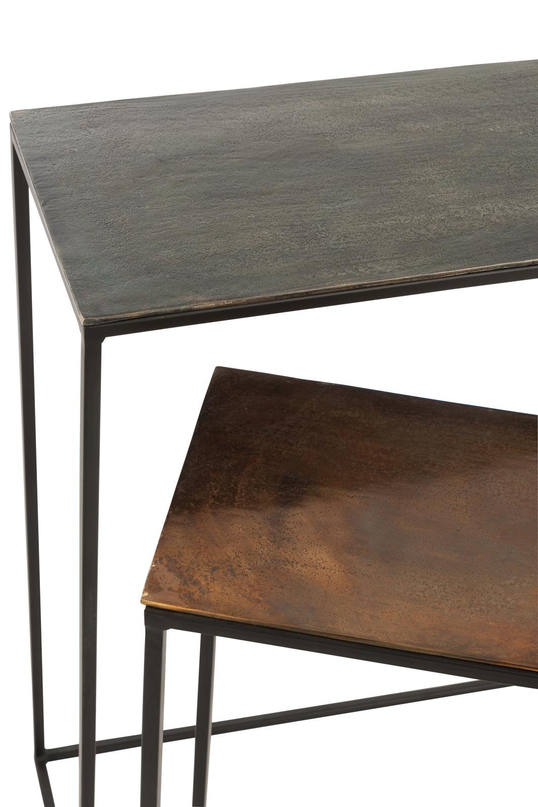 Duverger Industry Alu - Sidetables - set van 2 - rechthoekig - kleur mix - inschuifbaar