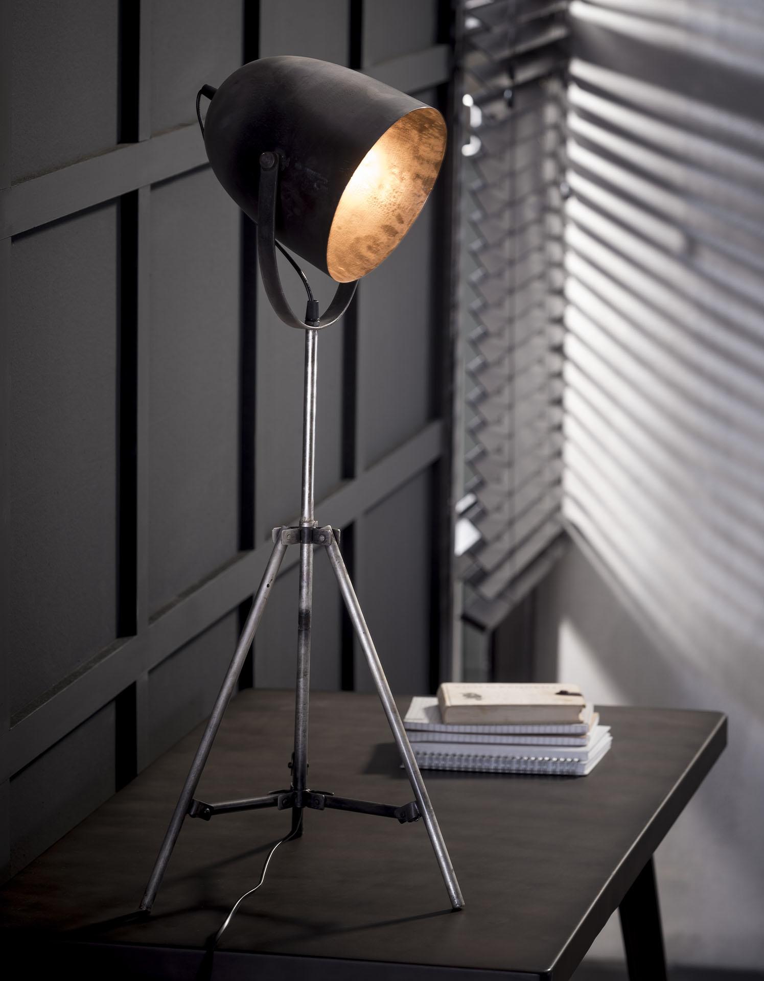 Duverger Industry - Vloerlamp - metalen statief - oud zilver