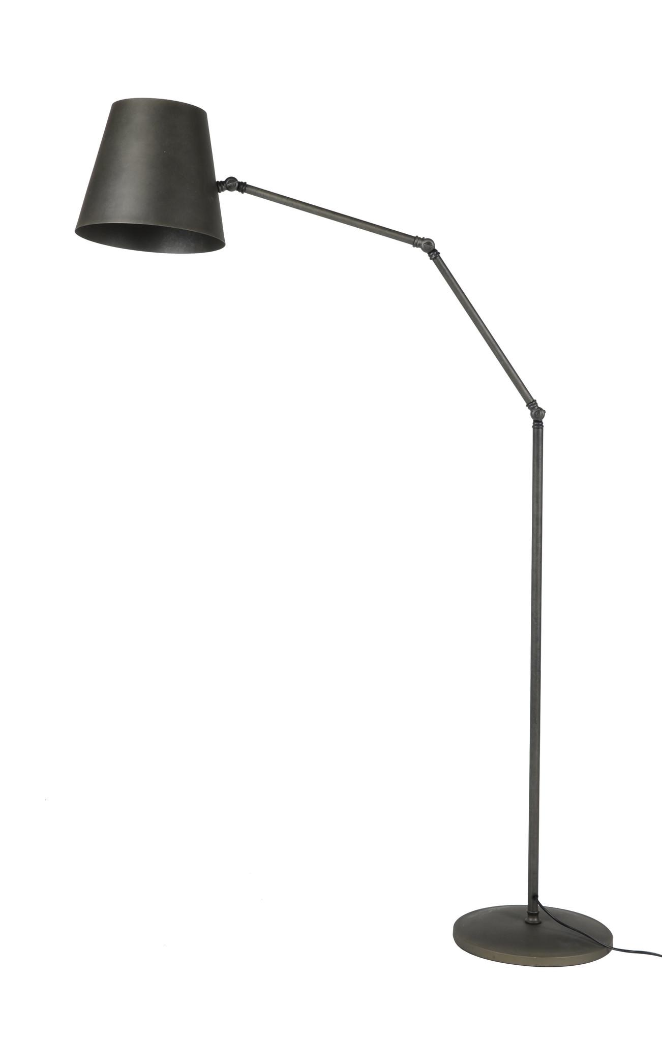Duverger Retro Industry - vloerlamp - arm knik verstelbaar - metaal